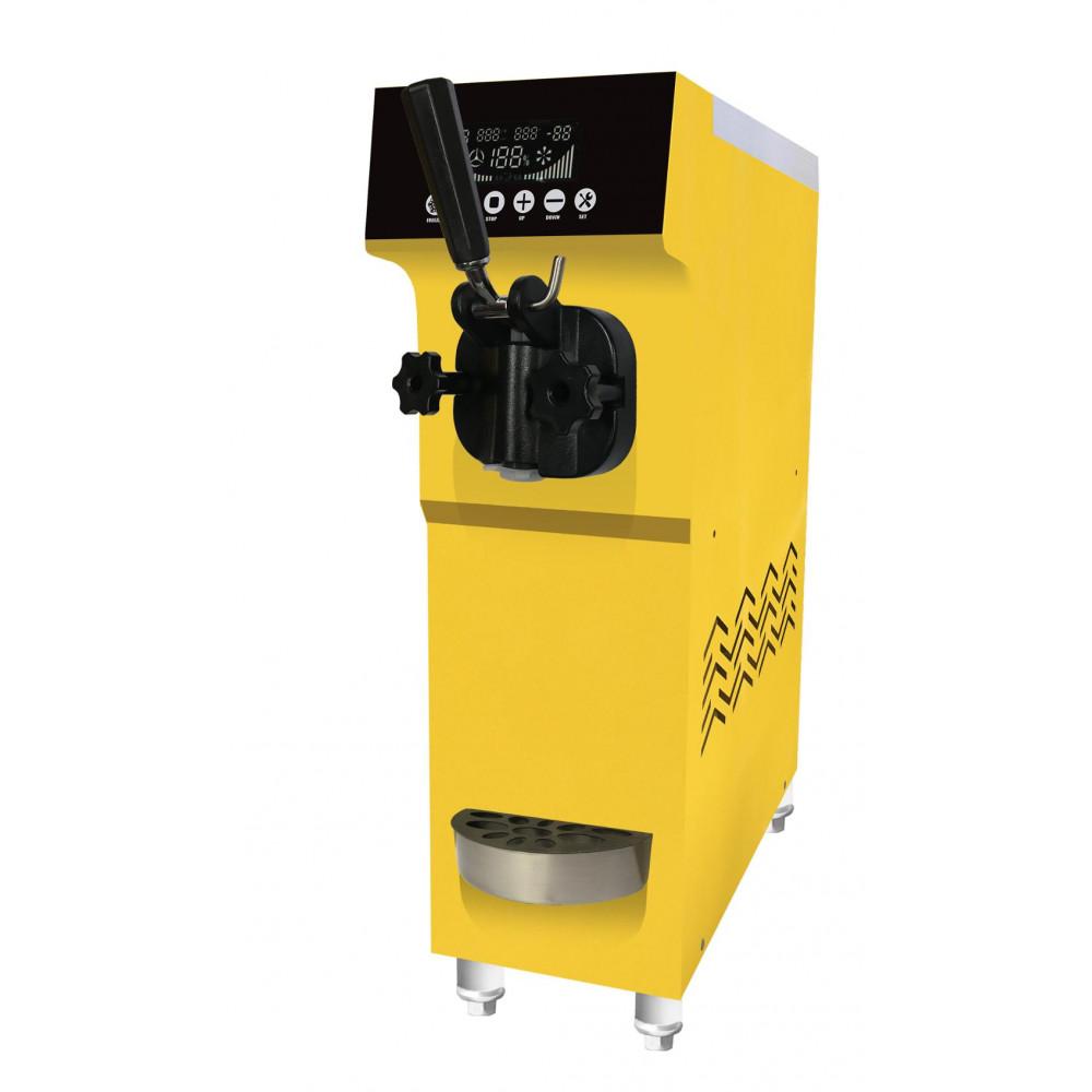 Фризер для мягкого мороженого настольный, 1 узел раздаточный, 12лч, желтый, предварит.охл.