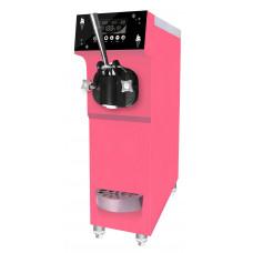 Фризер для мягкого мороженого настольный, 1 узел раздаточный, 12л/ч, розовый, предварит.охл.