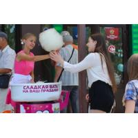 Выездная торговля сладкой ватой на праздниках