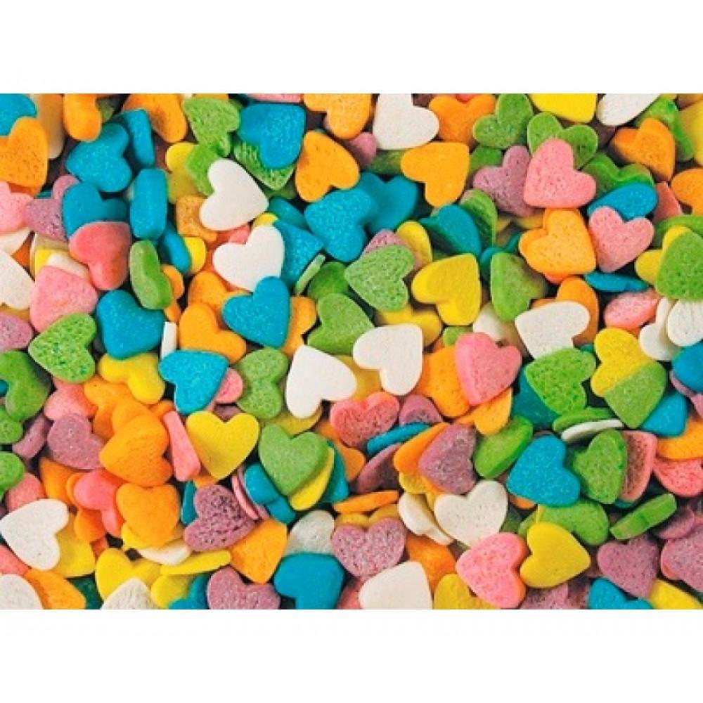 Посыпка для мороженого и десертов, сердечки разноцветные 750гр