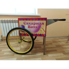 Тележка для аппарата сахарной ваты, 2 колеса, красная (использовалась на выставке)
