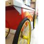 Тележка для картофеля фри со столешницей, 4 колеса (использовалась на выставке)