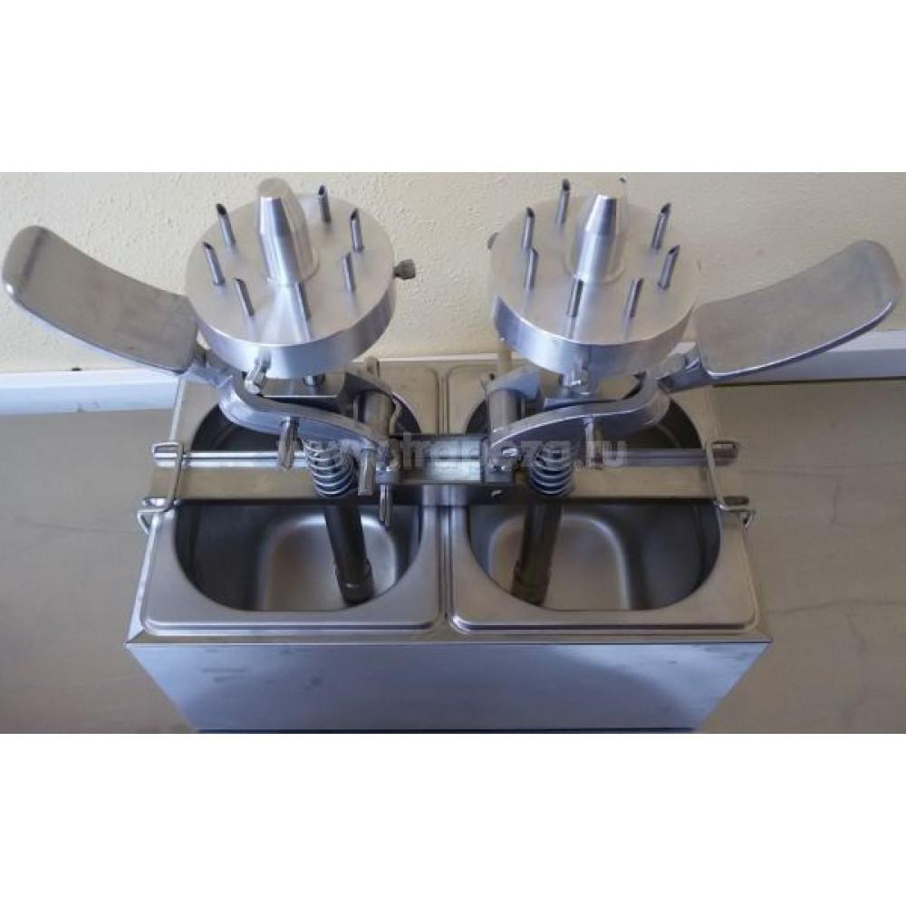 Дозатор начинок для пончиков, механический, 2 насадки с 8 иглами