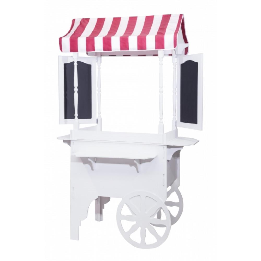 Тележка для аппарата сахарной ваты CВ 0201, цвет белый