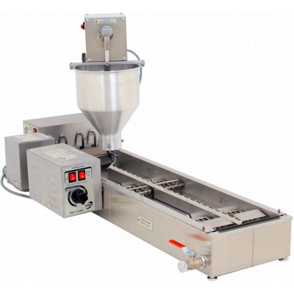ПРФ-11/2400 автоматический пончиковый аппарат, 2400шт/ч, ванна 16л, нерж.сталь+алюминий