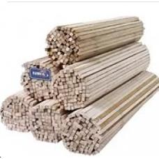 Палочки для сладкой ваты, дерево, для пищевой продукции, длина 400 мм, сечение квадрат 5х5 мм